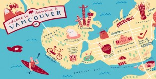 Vancouver Map by Adela Kang