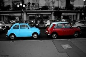 Fiat_500_VS__Mini_cooper_by_Wilchen558