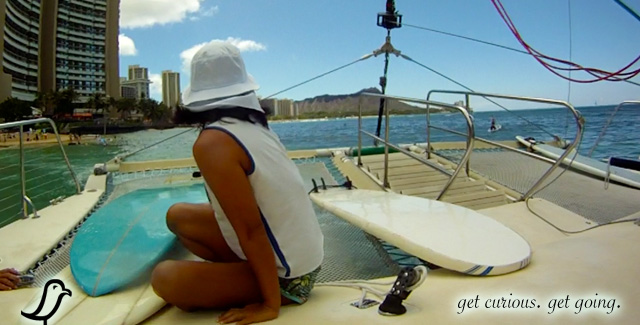 A Catamaran Ride to the Surf Break (Honolulu, Oahu)