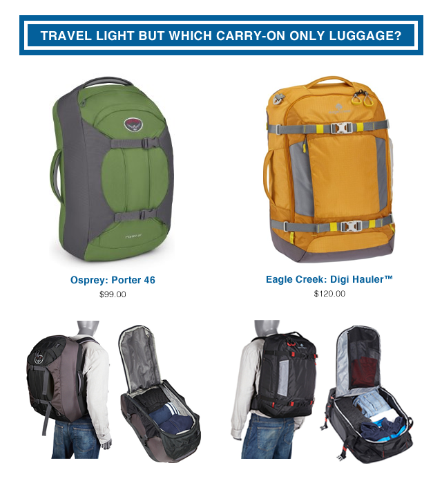 Carry-On Luggage: Osprey Porter 46 vs Eagle Creek Digi Hauler