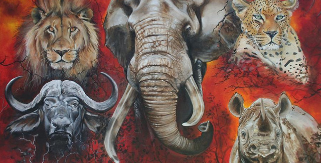 Africa's Big 5 - painting by Fine Art America