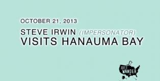 Image: Steve Irwin Impersonator Visits Hanauma Bay