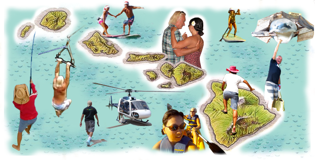 PIC: Collage of Bill and Maya's Adventures