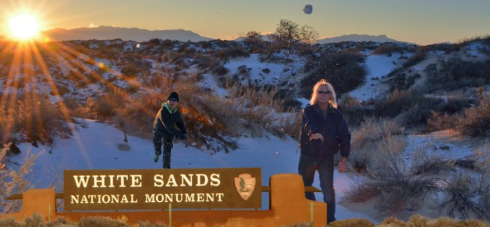First Time: Snowball Fight (White Sands National Monument, New Mexico)