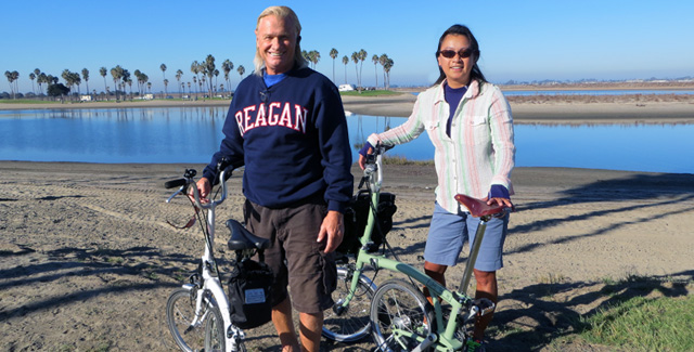 8-Mile Brompton Bike Ride around Mission Bay Park (San Diego, CA)