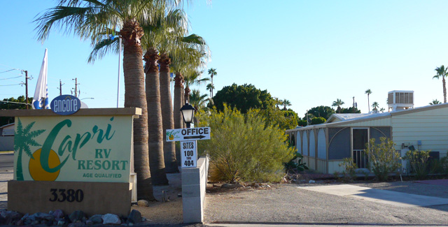 RV Park: Capri RV Resort (Yuma, Arizona)