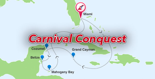 Carnival Conquest: 7 Day Exotic Western Caribbean Cruise from Miami, FL