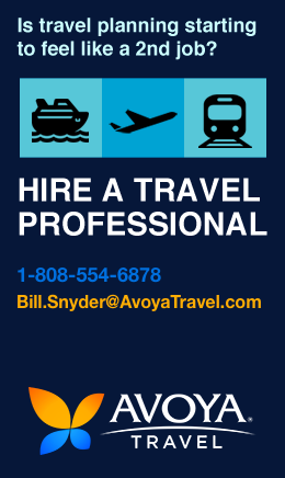Sponsor: Bill Snyder - Avoya Travel Independent Affiliate. Specializing in Cruise Vacations. Don't let travel planning feel like a 2nd job. Hire a Travel Professional