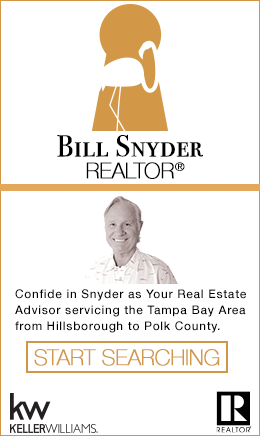 Sponsor: Bill Snyder - REALTOR with KELLER WILLIAMS | Plant City, FL servicing Tampa Bay Area from Hillsborough County to Polk County. Confide in Snyder as your Real Estate Advisor. Start Your Home Search