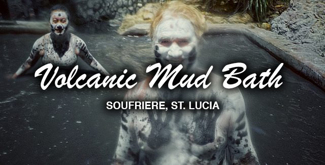 Stick-in-the-Muds at St Lucia's Volcanic Mud Bath (Sulphur Springs, St Lucia)
